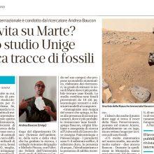 Andrea Baucon on the Secolo XIX newspaper